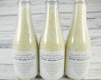 HONEYSUCKLE GARDENIA milk bath salts-bath-sea salt-goats milk-relaxation gifts-wholesale bath salts-oatmeal-Christmas gift-gift women-gifts
