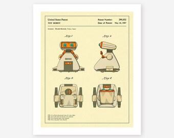 ROBOT PATENT 1987 (Giclée Fine Art Print/Photo Print/Poster Print) Dingbot