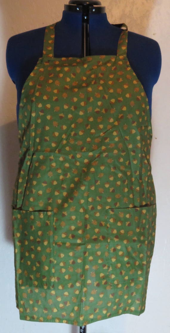 Green Acorn Fall Full Apron