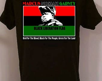 Marcus Garvey Flag African American t-shirts