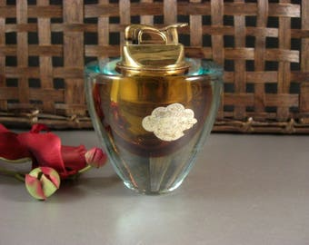 Alfredo Barbini Sommerso Art Glass Table Lighter with ORIGINAL Tag