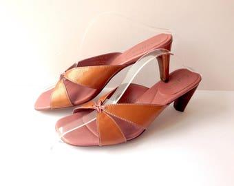 9.5 Slingback Leather Sandals,  Leather Sandals Cole Haan 9.5, Boho Dress Sandals 9.5