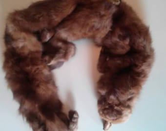 Vintage Mink Fur Collar Pelts