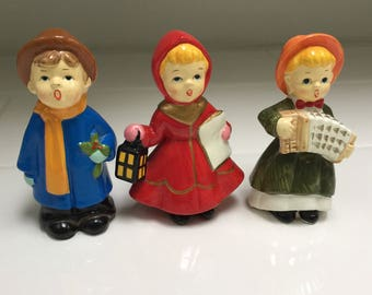 Vintage Set of Three Carolers 4""