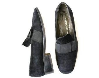 Vintage Kélian Paris Loafers 7 / Stéphane kélian black flats moccasins  38