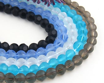 Smokey, 8mm Quartz Beads, Manufactured Quartz, Round Quartz Beads, 10 pcs // BD-065