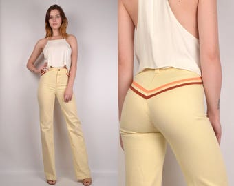 Vintage 70's Flare Jeans w/ High Waist XS