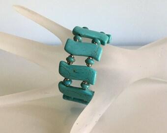 Cuff Bracelet Turquoise Bracelet Memory Wire Bracelet