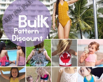 Use these codes to order Bulk Patterns - Discount Codes to SAVE when ordering 2+ Hadley Paige Designs Patterns at once!