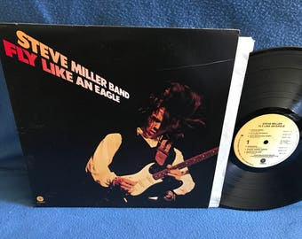 "Vintage, Steve Miller Band - ""Fly Like An Eagle"" Vinyl LP, Record Album, Original First Press, Classic Rock, Take The Money And Run"