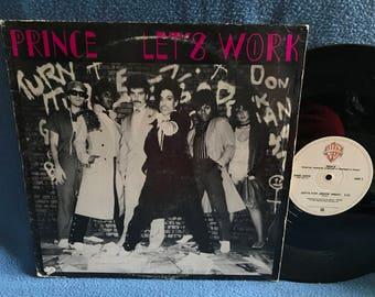 "Vintage Prince - ""Let's Work (long version)/ Gotta Stop Messin About"", Vinyl LP Record Album, 1981 Original Press, Controversy, Classic Funk"