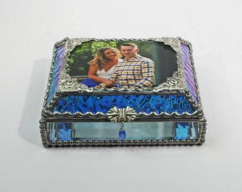 Photo Glass Jewelry Display Box - Treasure Box
