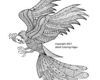 Animal Coloring Page Item 3, Printable Coloring Page, Instant Download Adult Coloring Page.
