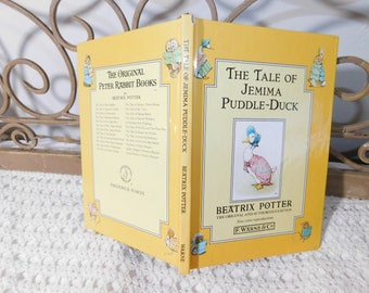 The Tale of Jemima Puddle-Duck 1992, Beatrix Potter, Child's Vintage Book, Hard Back Book, Peter Rabbit book :)s*