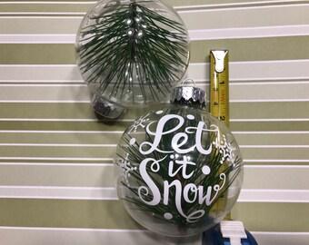 large handmade glass ornaments, 3 inch (LR20)