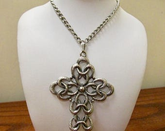 ON SALE SARAH Coventry Large Interlocking Cross Necklace Item K # 3036