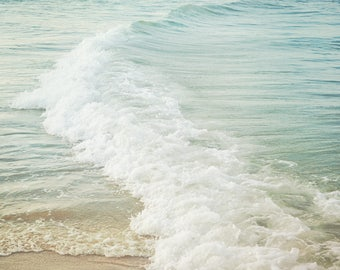 Ocean waves, coastal home decor, beach print, Blue and White, Sea, Wave, Jersey Shore
