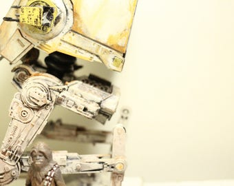 custom painted star wars  AT-ST black series action figure
