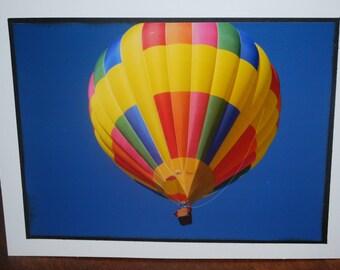 photo card, hot air balloon photograph, Balloon Fiesta, New Mexico