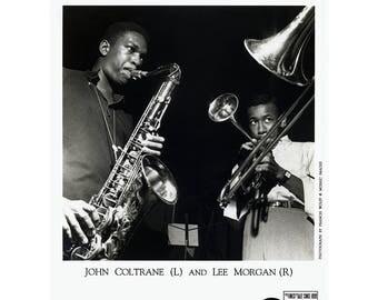 John Coltrane/Lee Morgan Publicity Photo 8 by 10 B&W