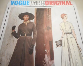 Vintage 1960's Vogue 2527 Paris Original Nina Ricci Mod Dress Sewing Pattern Size 12 Bust 34