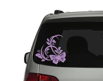 Butterfly Car Decal Etsy