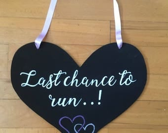 Last chance to run...! Pageboy heart for weddings