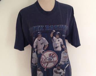 Vintage New York Yankees Derek Jeter 1998 Tshirt