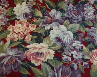 """1 Yard and 30"""" of Beautiful Quilt Cotton Floral Fabric with Roses"""
