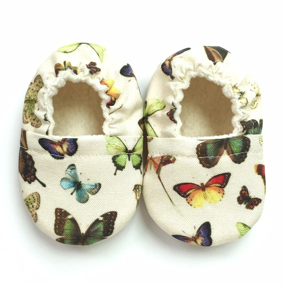 Butterflies Soft Sole Vegan Baby Shoes