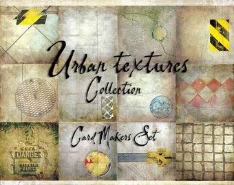 Digital Paper Pack Urban Textures Cardmakers Set downloadable printables