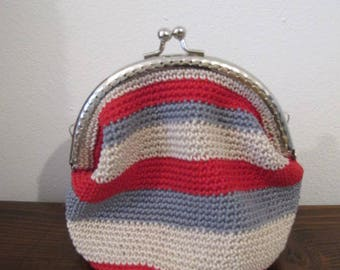 Purses, Pochette, crocheted bag with Clasp