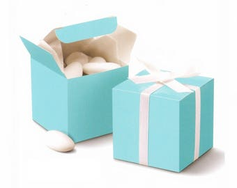 "10 pcs , Tiffany Blue Cube Wedding Favor Boxes 2""x2""x2"""