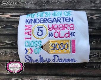 Kindergarten Shirt, First Day of School, School Shirt, Girl School Shirt, Girl Preschool, Back to School
