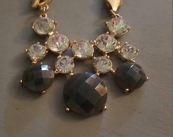 Pretty rhinestone goldtone necklace