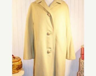 60% OFF Clearance Sale Vintage 60's Mint Green Cashmere Swing Coat Overcoat  sz L -X/L