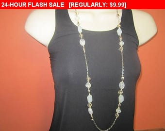 vintage Loft beaded chain necklace