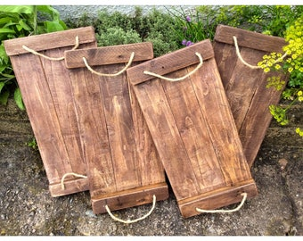 Rustic Reclaimed Wood Trays Country Shabby Chic
