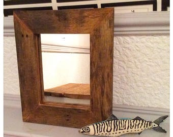 Rustic Reclaimed Wood Mirror Country Shabby Chic