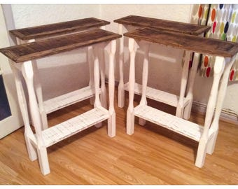 Rustic Reclaimed Wood Console Table Country Shabby Chic