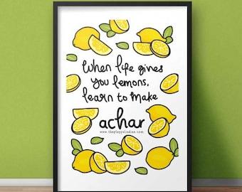 When Life Gives You Lemons Print A5/A4