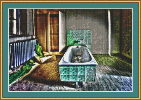 Bath Cross Stitch Pattern /Digital PDF Files /Instant downloadable