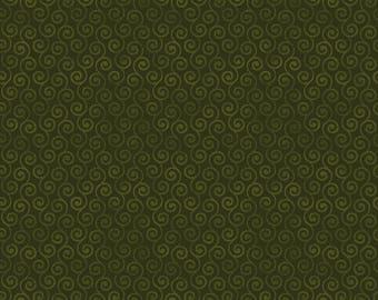 Christmas Green Colored Scrolls - Moose Christmas - 4304-40