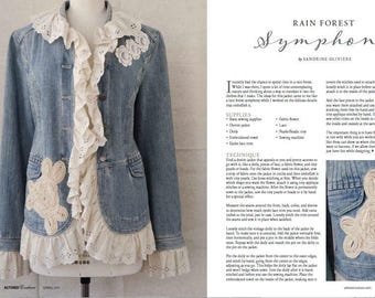 Jean Jacket, Romantic Denim Jacket, Eyelet Ruffles, Vintage Doily, French Lace, Beads, Handmade  - As Seen on Altered Couture Magazine 2017