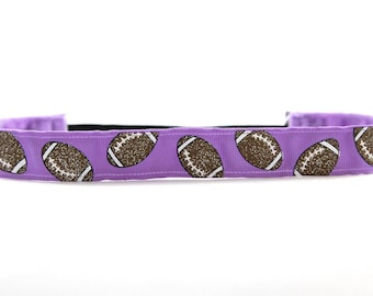 Purple Football Headband, It's Game Day Y'all, Glitter Football Accessory, Football Team Headband, Team Gift, College Football Fan