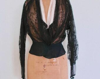 "Victorian Black Lace Bodice - ""Victorian Fem Fatale"""