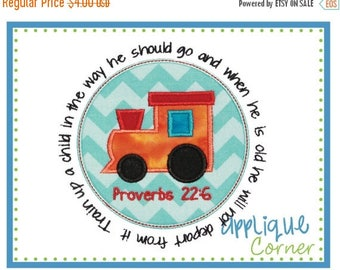 40% OFF Train Patch Train a Child Bible Verse applique digital design for embroidery machine by Applique Corner