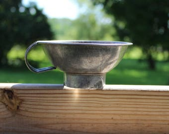 tin canning funnel 4 1/2 inches wide  x 2 1/2 inches tall 1910 or earlier excellent condition