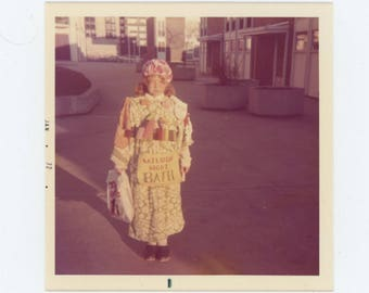 Saturday Night Bath, 1972: Vintage Snapshot Photo (77594)