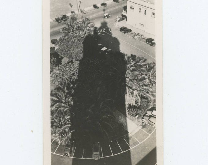 Vintage Snapshot Photo: Tower & Shadow, c1930s (710616)